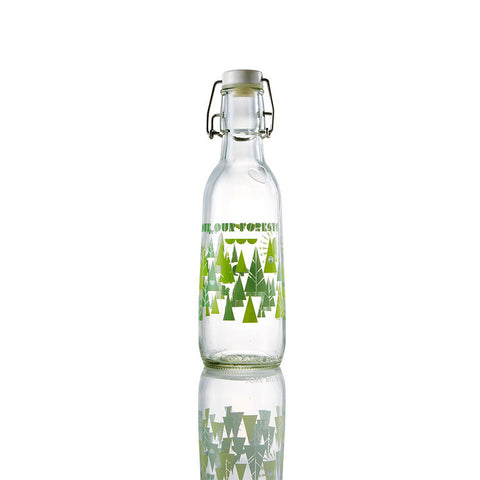 """Love Our Forests"" Glass Water Bottle"