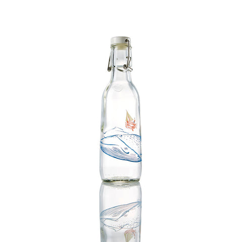 """Whale"" Glass Water Bottle"