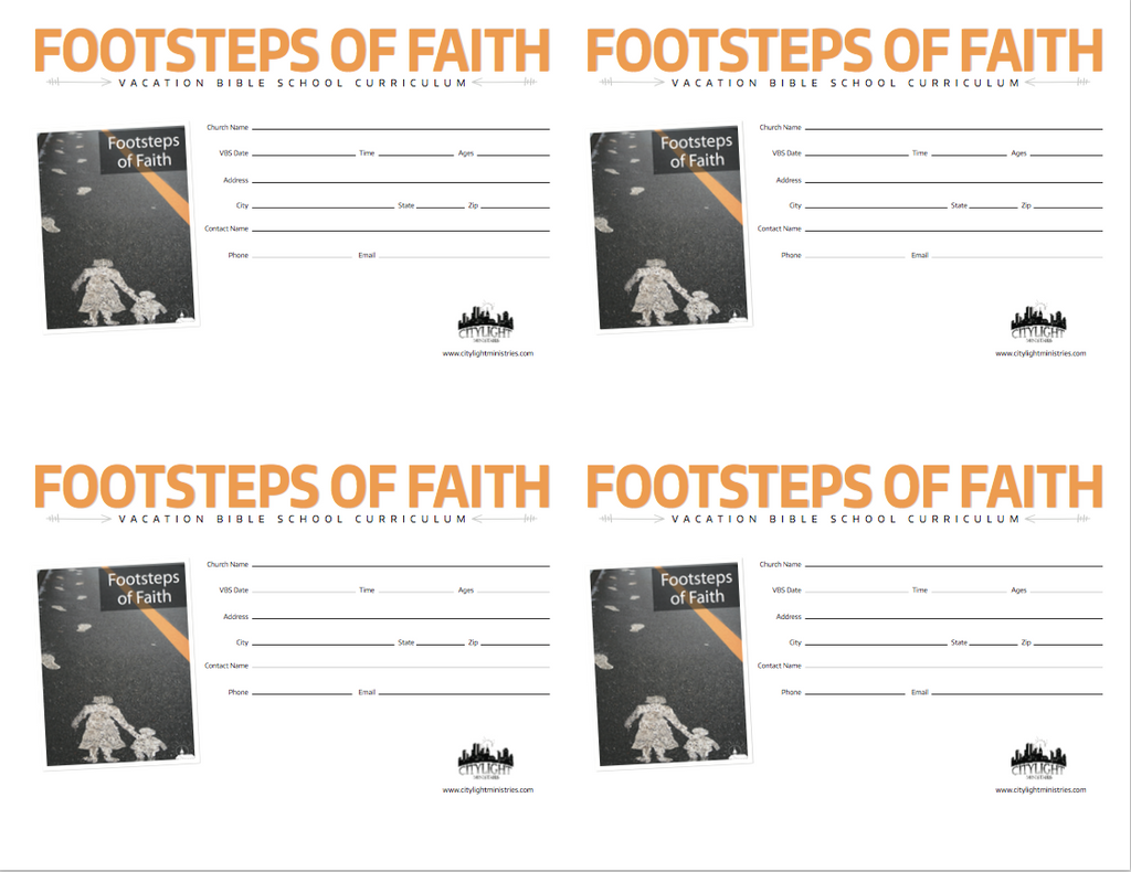 Footsteps of Faith Poster and Invitations