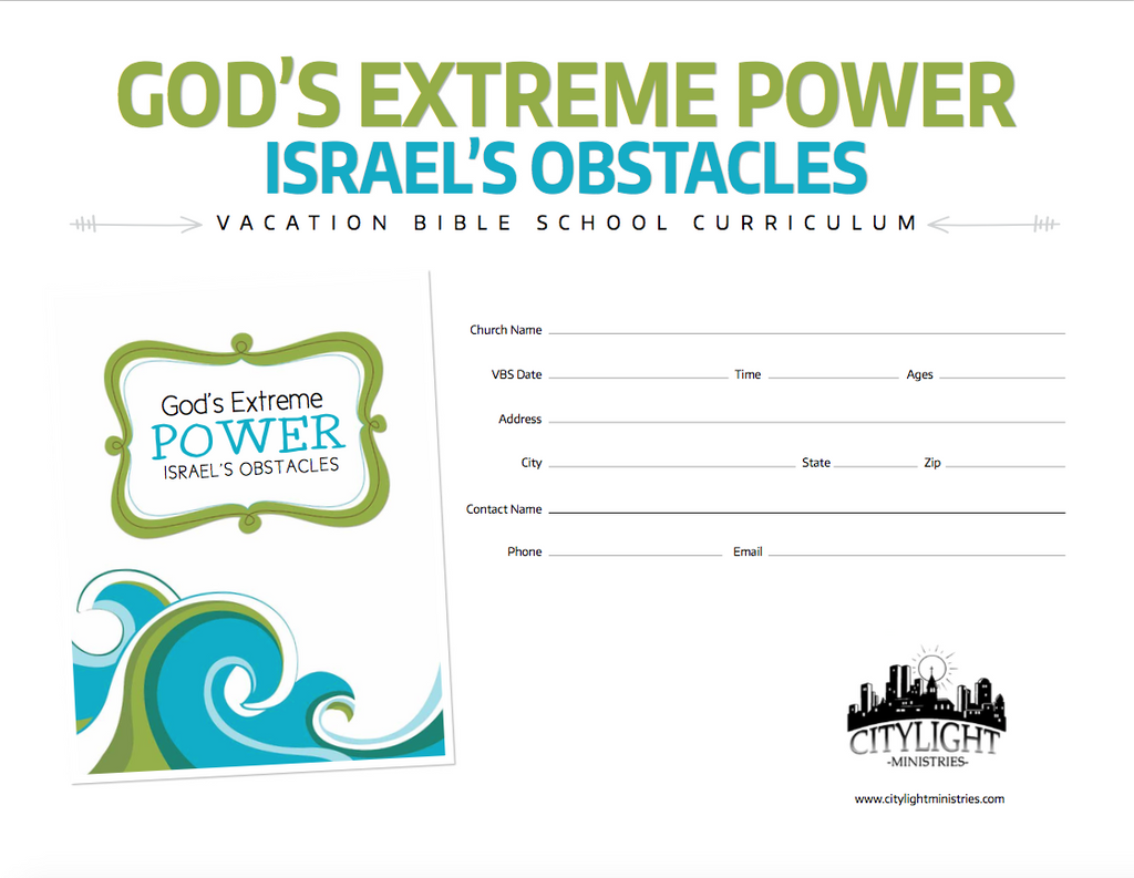 God's Extreme Power Poster and Invitations