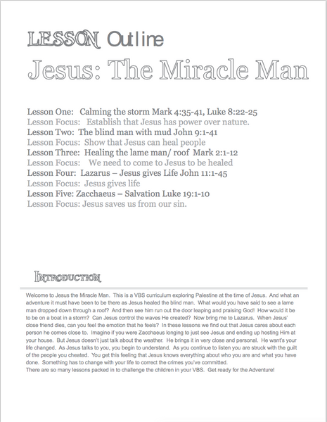 Jesus: Miracle Man NIV