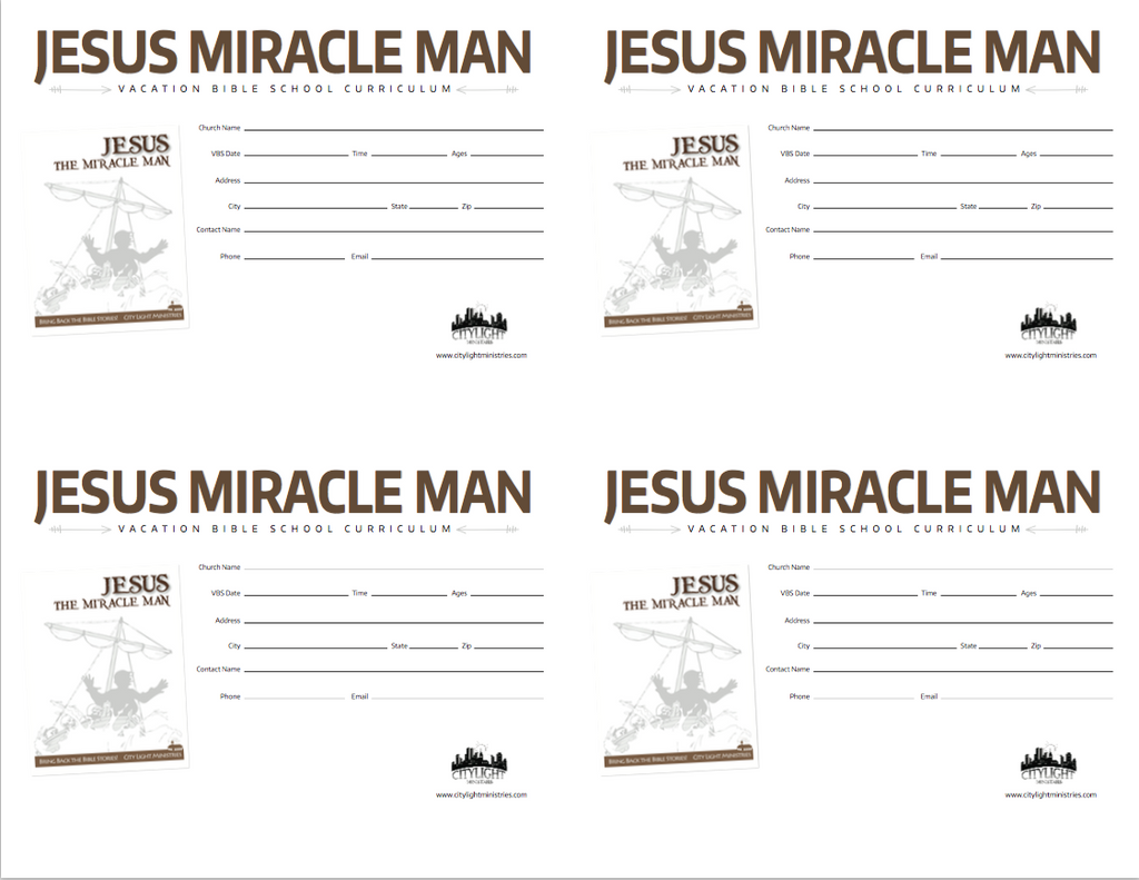 Jesus Miracle Man Poster and Invitations