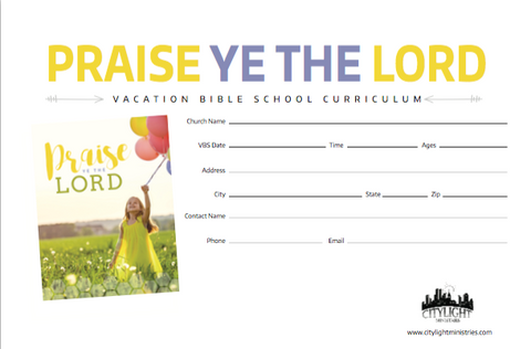 Praise Ye the Lord Poster and Invitations