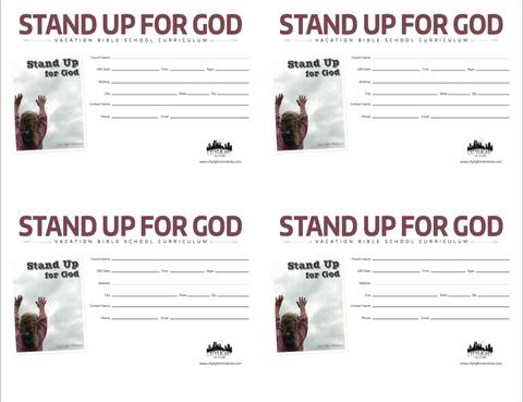 Stand Up for God Poster and Invitations