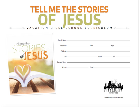 Tell Me the Stories of Jesus Poster and Invitations