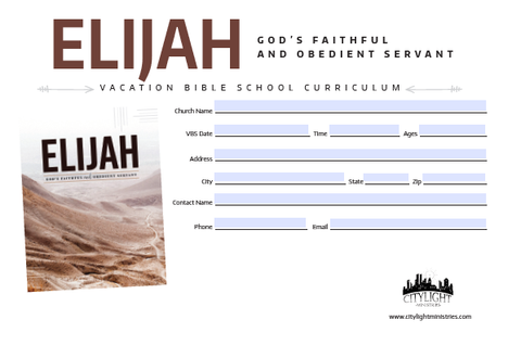 Elijah Poster and Invitations