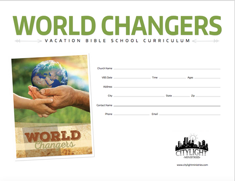 World Changers Poster and Invitations