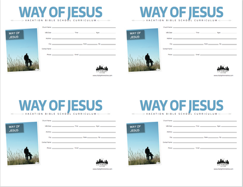 Way of Jesus Poster and Invitations