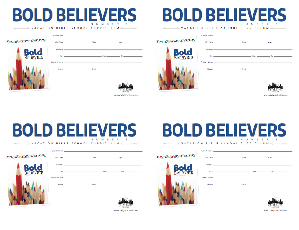 Bold Believer's 2 Poster and Invitation
