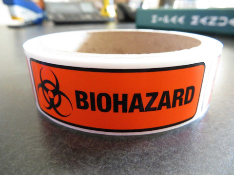 Biohazard Labels - Free Shipping!