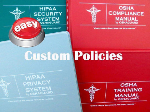 2018 OSHA and HIPAA Bundle - We do it for you! - Customized Policies