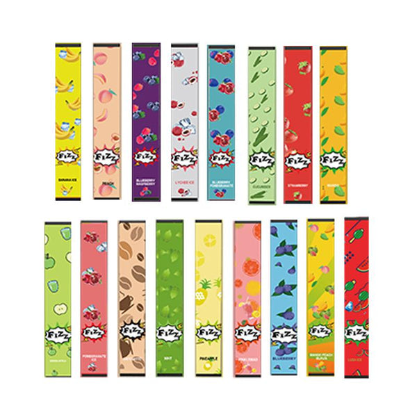 Fizz Disposable Collection (Display Pack of 10) 1.3ML E-Juice Fizz Vapors