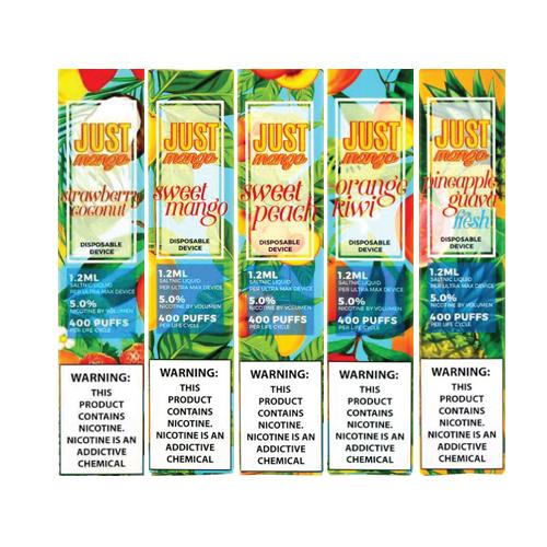 Just Mango Fresh Disposables (Display Pack of 10) 1.2ML E-Juice (CA & National) StrictlyE-cig