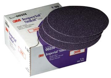 "00374 3m Marine 3m Imperial Stikit Discs 7401 & 7451 7401 36e, 6"""" Dia., Box of 50 (while Qtys Last)"