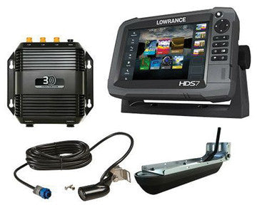 12914-001 Lowrance Hds7  Gen 3 Touchscreen Fishfinder/gps Chartplotter Combo With Structurescan 3d Sonar Hds7 Gen 3 Touch W/insight Usa and Structurescan 3d Module W/transducer