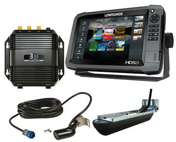 12915-001 Lowrance Hds9  Gen 3 Touchscreen Fishfinder/gps Chartplotter Combo With Structurescan 3d Sonar Hds9 Gen 3 Touch W/insight Usa and Structurescan 3d Module W/transducer