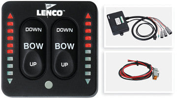 15070-001 Lenco Marine Lenco Led Tactile Indicator Switch Kit With Retractor and Self-Check 123sc Control Switch W/led Trim Indicators, Retractor and Self-Check (while Qtys Last)