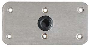 "6483 Swivl-Eze 075 Series Lock'n-Pin  Stainless Steel Base Plate, Bronze Bushing 4"""" X 8"""", Non-Threaded Bushing, Bulk"