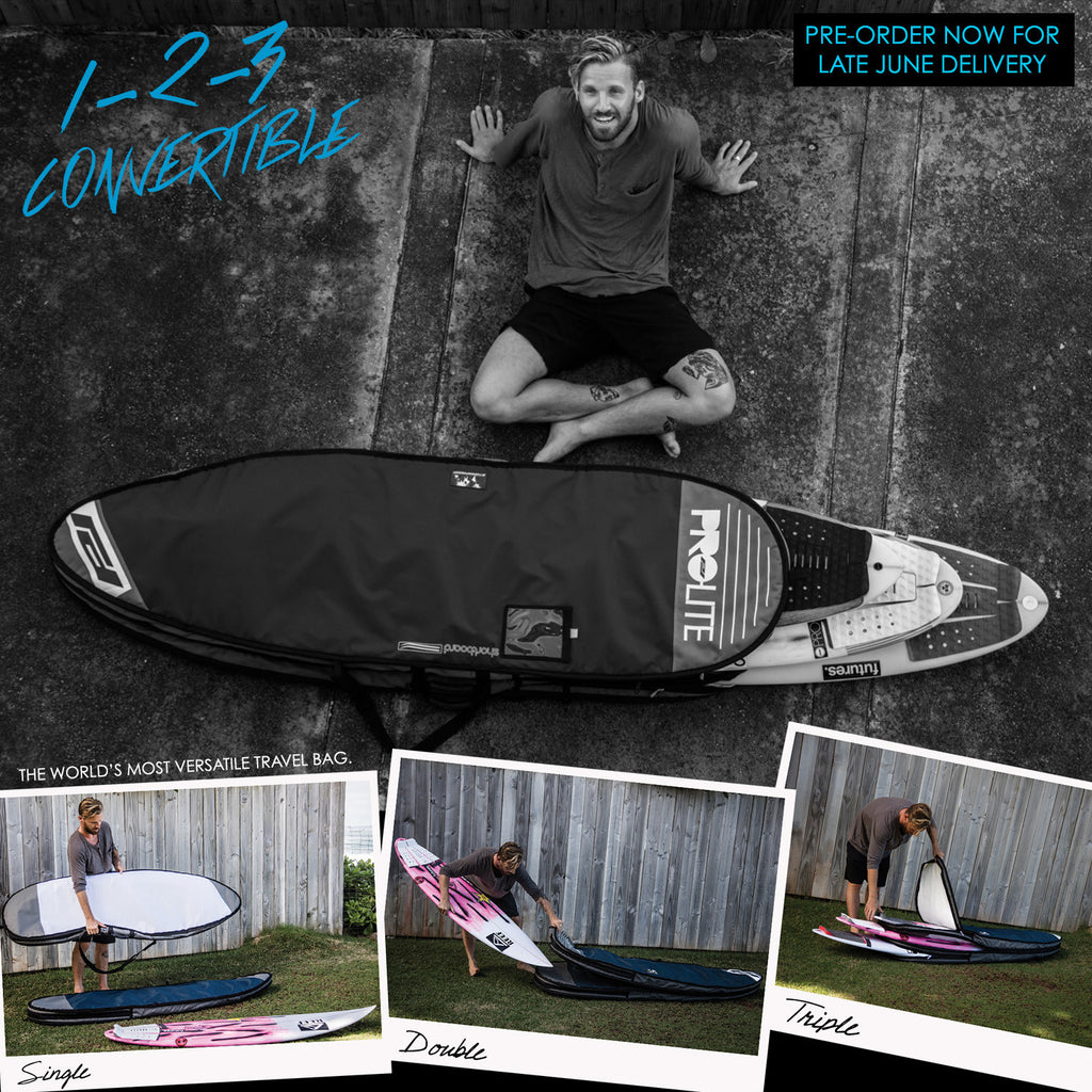 Introducing The 1-2-3 Convertible Surfboard Travel Bag