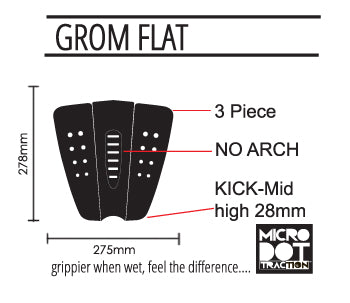 Pro-Lite grom flat traction specs