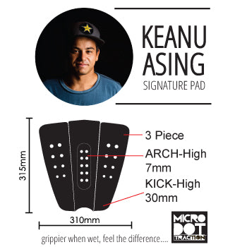 Keanu Asing surf traction specs