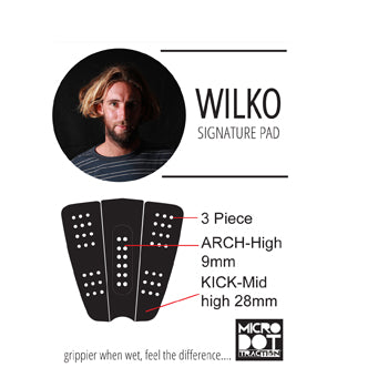 Matt Wilkinson surf traction pad specs