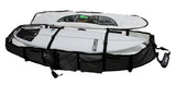Internal view of pro-lite deep wheeled coffin surfboard travel bag