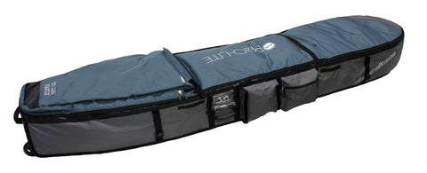 Prolite wheeled coffin travel bag. Holds 3-4 surfboards.