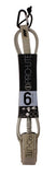 Pro-Lite tan 6'0 surfboard leash-(Freesurf)