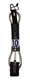 Pro-Lite clear with black core surfboard leash size 10'0 (freesurf)