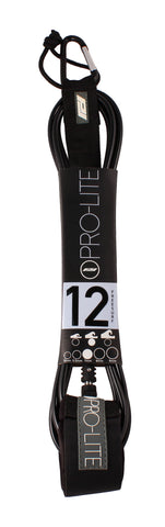 Pro-Lite black surfboard leash size 12'0 (Freesurf)