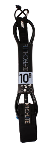 Pro-Lite black surfboard knee leash size 10'0 (Freesurf)