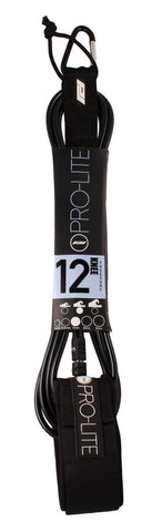 Pro-Lite black surfboard knee leash size 12'0 (Freesurf)