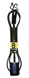 Pro-Lite black surfboard leash size 8'0 for large waves (survivor)