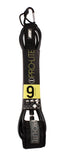 Pro-Lite black surfboard leash size 9'0 for large waves (survivor)