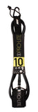 Pro-Lite black surfboard leash size 10'0 for large waves (survivor)