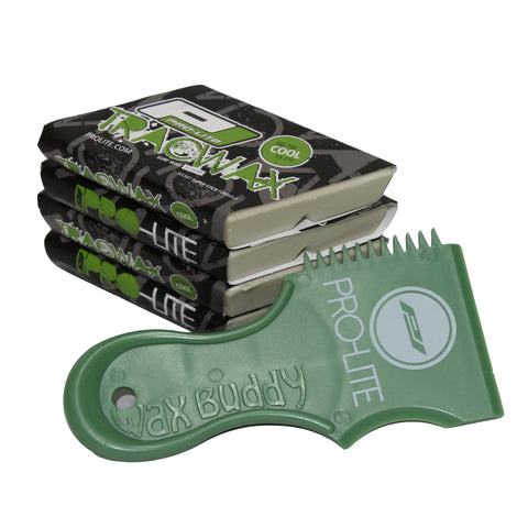 cool water surfboard wax pack with light green comb