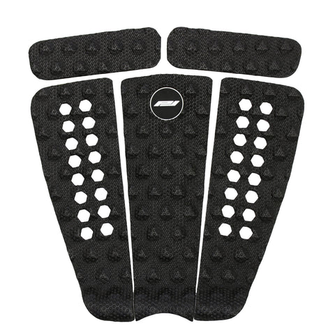 Pro-Lite 5 piece surfboard traction pad black.