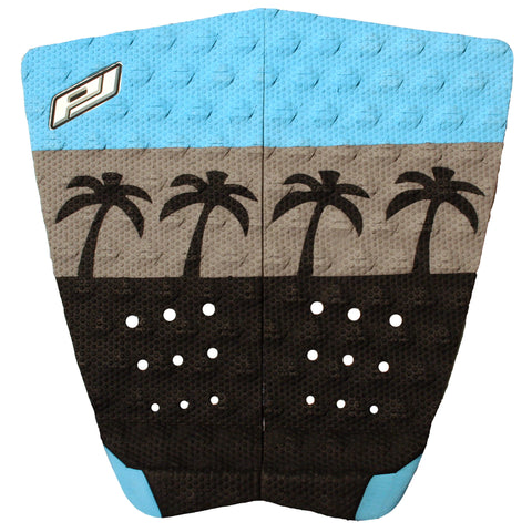 Pro-Lite surfboard traction pad black, gray and blue (the vice)