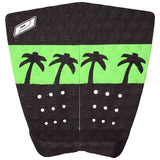Pro-Lite 2 piece surfboard traction pad black and green (the vice)