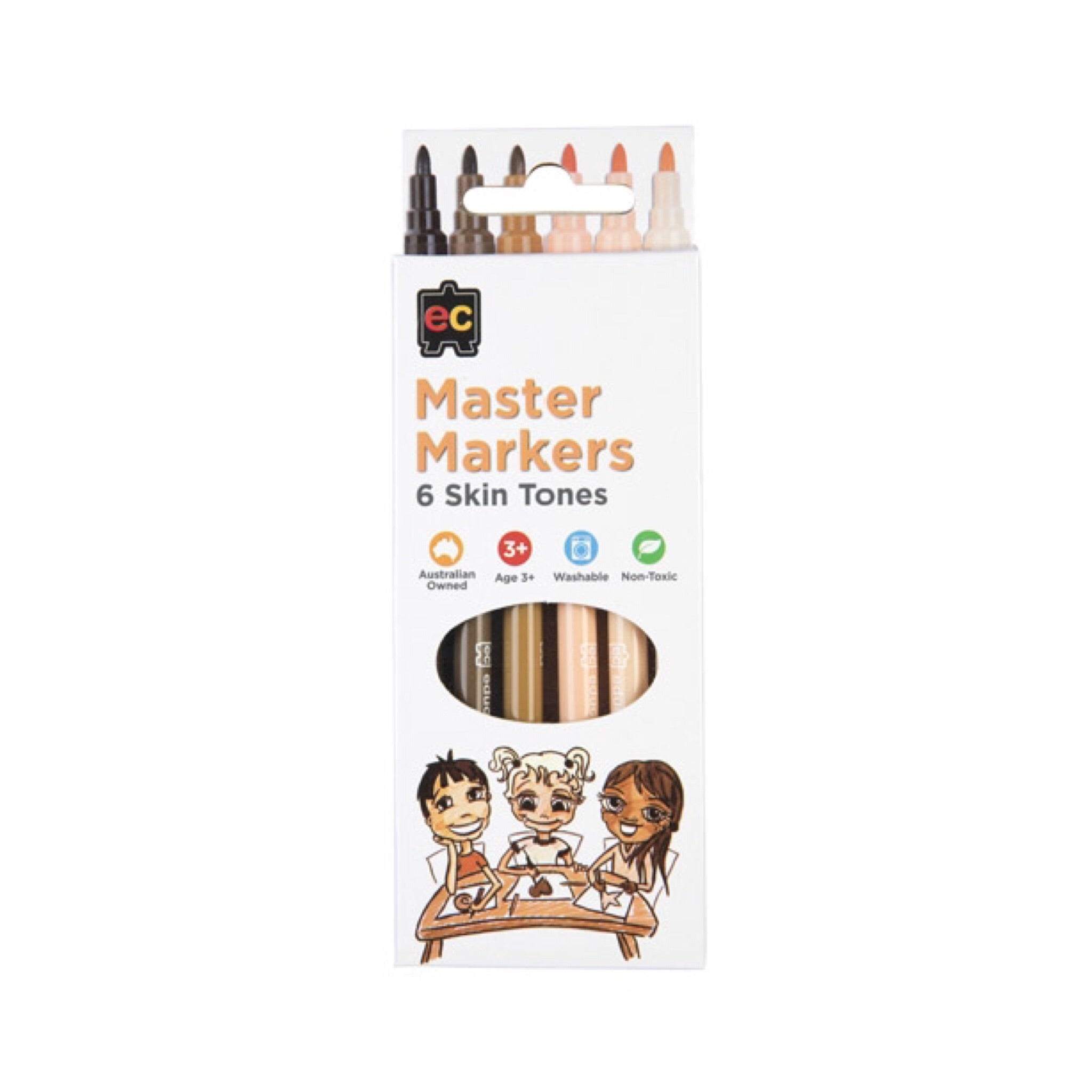 Skin Tone Markers | Pack of 6