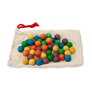 Qtoys Wooden Coloured Balls | Set of 50 - Lexi & Me