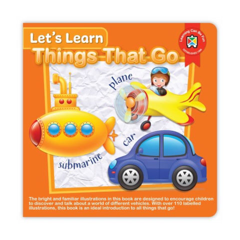 Board Book | Let's Learn Things That Go