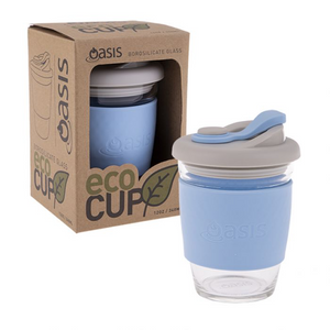 Oasis Borosilicate Glass Eco Cup 340ml | Pale Blue - Lexi & Me