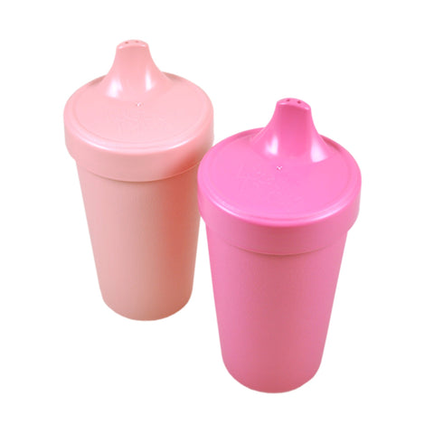 Replay Sippy Cups - Set of 2 | Bright Pink & Baby Pink - Lexi & Me