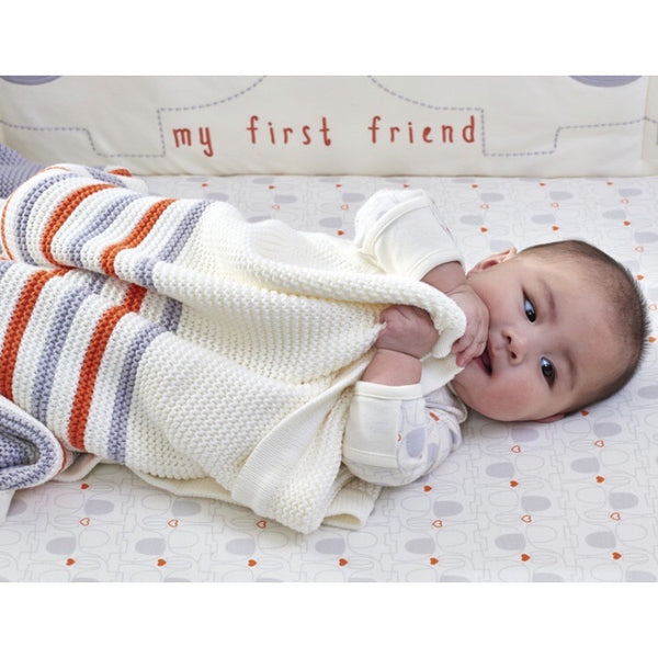 Organic Cotton Knitted Blanket - Lexi & Me