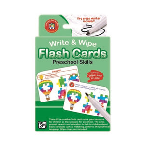 Write & Wipe Flash Cards with Marker | Preschool Skills - Lexi & Me