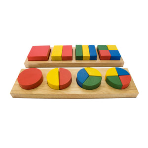 Qtoys Square/Round Fraction Puzzle - Lexi & Me