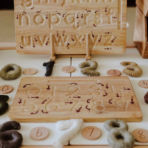 Qtoys Wooden Writing Board | Numbers - Lexi & Me