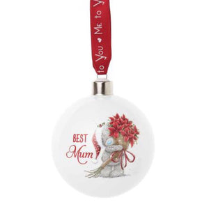 Me to You Christmas Bauble | Best Mum - Lexi & Me